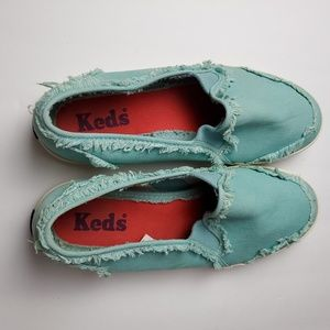 Keds Blue Distressed Slip-on Sneakers Size 6